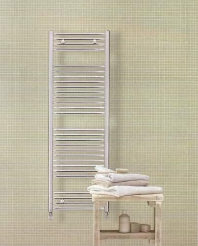 Trubkové koupelnové těleso- chromové Zehnder Aura rovné