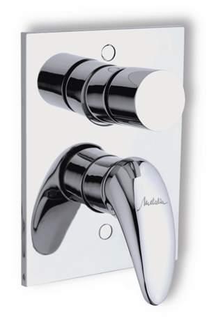 Vanová a sprchová podomítková baterie s přepínačem Novaservis Metalia 55050R