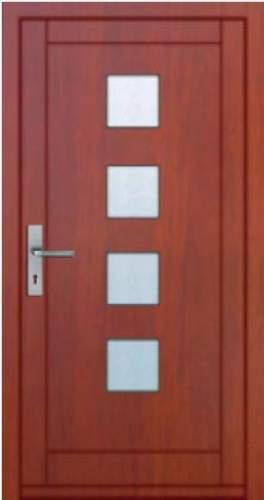 Vchodové dveře rámové Tredo Luxus - Masivní vchodové dveře rámové Tredo LUXUS 007