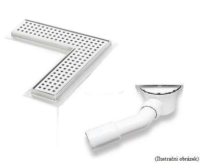 Sprchový žlab rohový typ L s přírubou