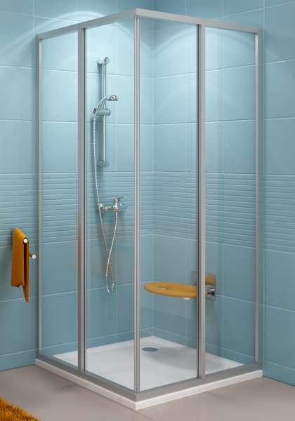 Rohový sprchový kout RAVAK SRV2-S+SRV2-S -100
