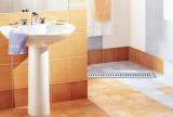 Podlahový - sprchový žlab V bez příruby (sifon PVC)