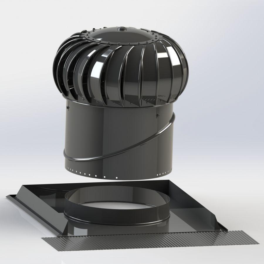 SET Lomanco BIB 12 + základna univerzální pro BIB 12 barva černá RAL 9005