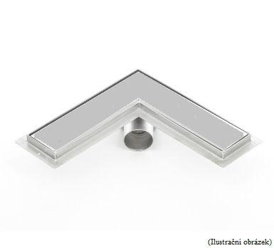 Sprchový odtokový žlab rohový L s keramickým obkladem (nerezový sifon)