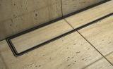 Sprchový odtokový žlab s nástěnnou přírubou a keramickým obkladem
