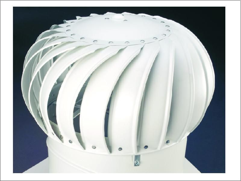 Ventilační turbína Lomanco TIB 12 - samotná hlavice bílá