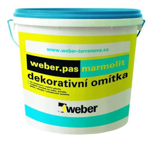 Dekorativní omítka Weber pas marmolit Weber Terranova