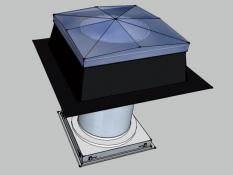 Tubusový světlovod Sunizer SF 530 - hranatý difuzér