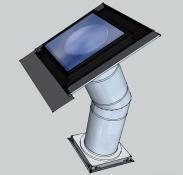 Tubusový světlovod Sunizer SP-H24LED330 - hranatý difuzér