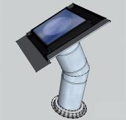 Tubusový světlovod Sunizer RP-H24LED 430 mm - kulatý difuzér
