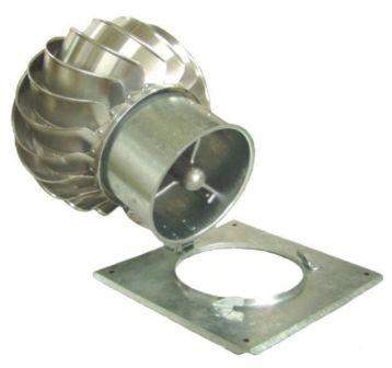Komínová hlavice Turbowent (s odklápěcí základnou)